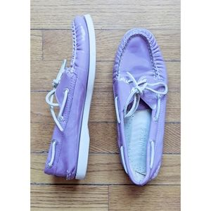 Sperry Topsider Purple Leather Boat Shoes